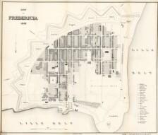 Kort Over Fredericia 1858 Digitale Samlinger