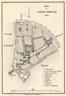 Kort Over Stege Kjobstad 1859 Digital Collections