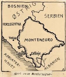 Kort Over Montenegro Digitale Samlinger