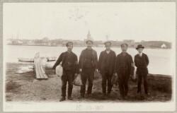 Fem russiske krigsfanger ved Assens