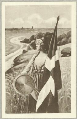 Kvinde med Dannebrog