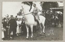 Christian 10, Kronprins Frederik og Arveprins Knud rider over den gamle grænse i forbindelse med Genforeningen