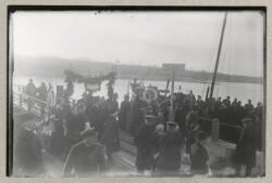 Færge ved havnen i Ballebro i forbindelse med Genforeningen