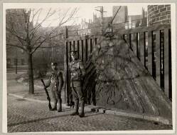 Indgangen til marineskolen i Mørvig, hvor de allierede tropper tog ophold under deres besættelse af området forud for afstemningerne om Genforeningen