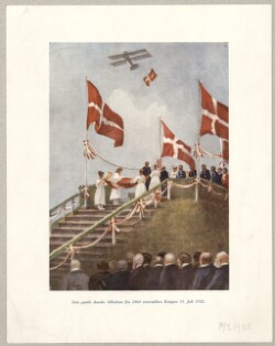 Den gamle danske Silkefane fra 1864 overrækkes Kongen 11. Juli 1920.