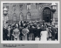 Tysk militærs musikkorps på Rådhuspladsen, 24. maj 1940
