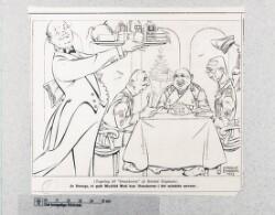 "Illustration: ""Ja drenge, et godt maaltid mad..."", 1943/1944"