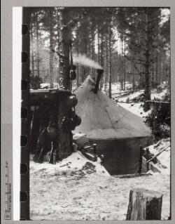 Danskernes sidste forlægning mellem Leksvall og Ekenäs i Hangö, november 1941