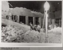 Schalburgtage: Århushallen efter eksplosion, 21. oktober 1944