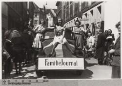 Ruth Gjersøe gør reklame for Familie Journalen