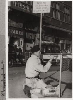 Markering af rækværk med hvid maling