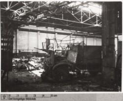 Citroên Bilværksted i Sydhavnen: Ødelagt værkstedshal