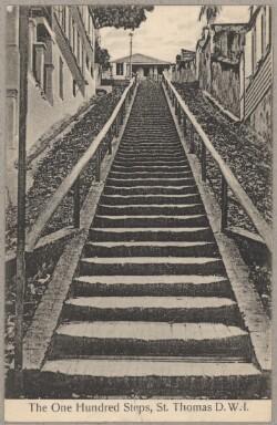 De 100 trin - trappe i Charlotte Amalie