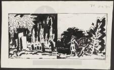 tegninger af grav kister