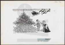 tegning af julemandens kane