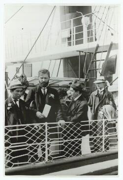 Ved afrejse fra København 1913