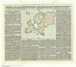 Grundtegning af Europa og kort Beskrivelse over dens Lande. Udgiven af Anton Frantz Just, Forligskommissair og Boghandler. Femte Oplag