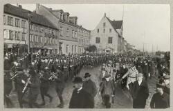 Franske og engelske troppers ankomst til Flensborg i forbindelse med genforeningsafstemningerne