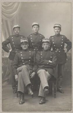 Carl som soldat sammen med Bertel Budtz-Møller