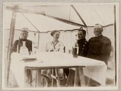I Officersmessens Telt, Lejren ved Avedøre, Juli 1915