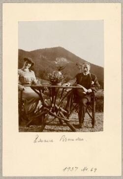 Ægteparret Elise og Edvard Brandes