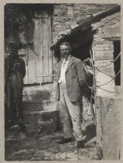 Arne Hall Jensen og Johannes Jørgensen i Assisi