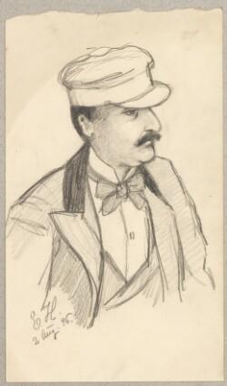 Peter Nansen tegnet af E. H.