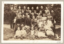 Elever på Hjørlunde Højskole 1889