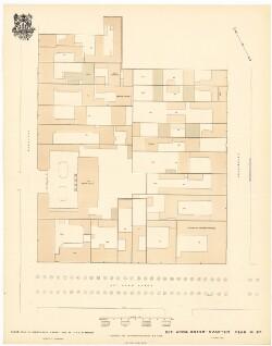 Carré-Planer af KjøbenhavnSct. Annæ Øster - Kvarter. Plan No. 87
