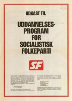 Udkast til uddannelsesprogram for Socialistisk Folkeparti