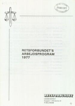 Retsforbundets arbejdsprogram 1977