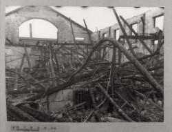 Det indre af Radiofabrikken Always efter eksplosion og brand i Sydhavnen d. 17. januar 1944