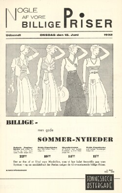 Nogle af vore billige Priser : Udsendt onsdag den 15. Juni 1932