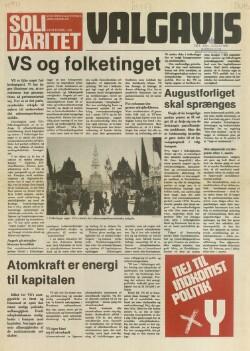 Solidaritet : Venstresocialisternes uddelingsblad : Valgavis