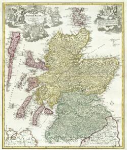 Magnæ Britanniæ Pars Septentrionalis qua Regnum Scotiæ in Suas Partes et subjacentes Insulas divisum
