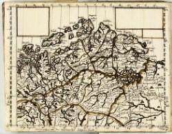 Johannis Mejeri Husumensis Charten über den Nordlichen Ocean nebst Grönland, Island, Ferröe, Finmarchen etc.Findmarchia mit das Norwegischer Lappen-Landt