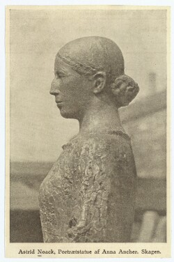 Anna Ancher. - Astrid Noack, Portrætstatue af Anna Ancher. Skagen