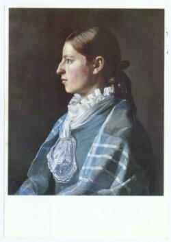 Anna Ancher. - Portræt af Anna Ancher som ung pige. Ca. 1878