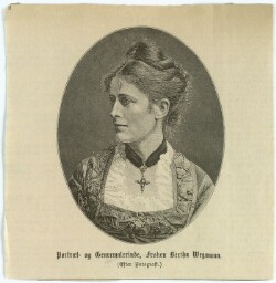 Portræt- og Genremalerinde, Frøken Bertha Wegmann