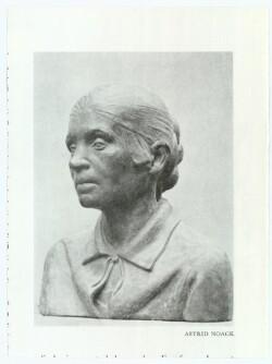 Buste af Astrid Noack udført af Adam Fischer 1928
