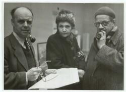 Grønningen 1945. Povl Schrøder, Astrid Noack og Adam Fischer