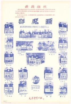 群魔圖 : 揪出河北省体育系统反革命修正主义集团表示众Billede med en gruppe monstre
