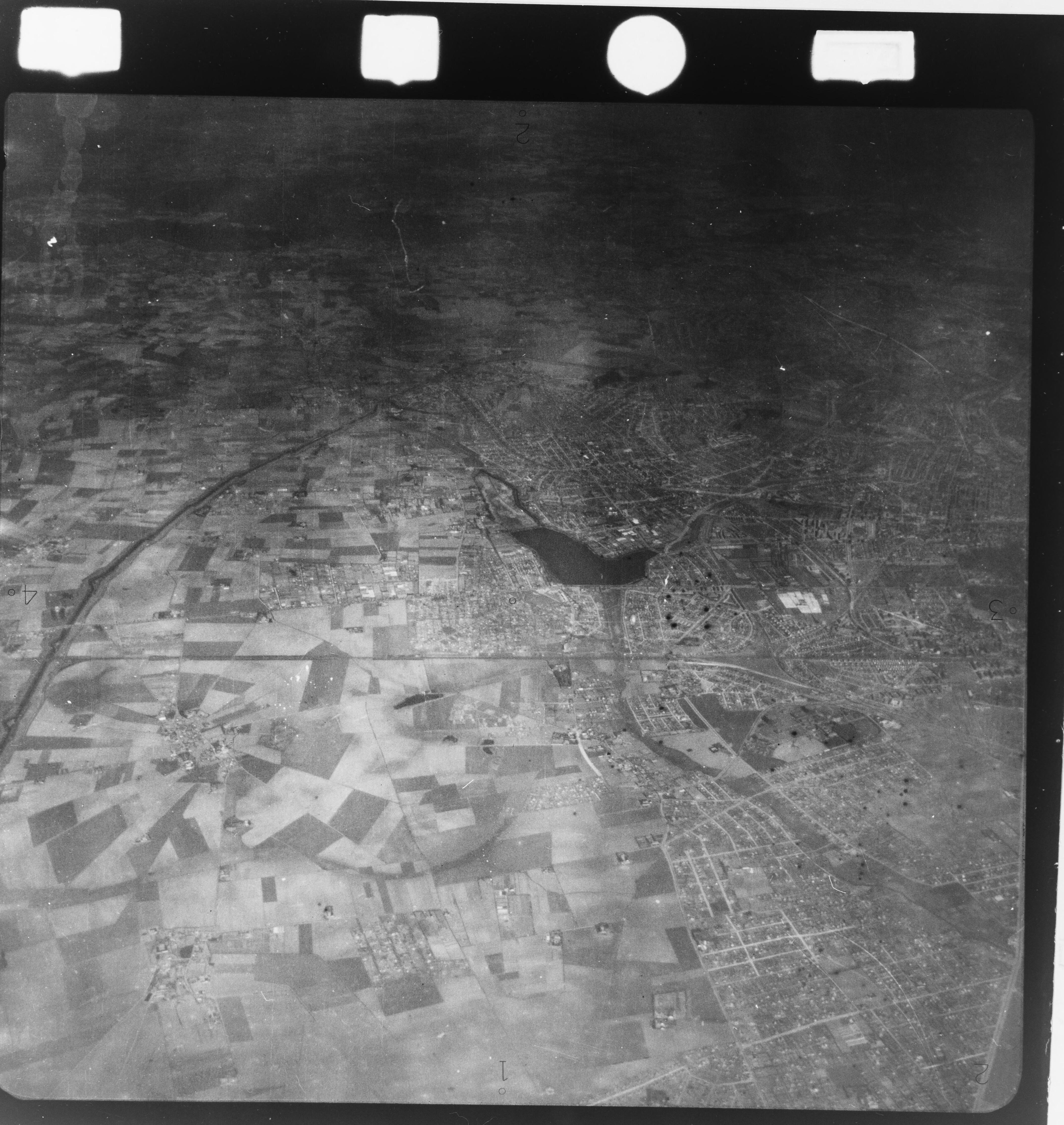 Skråfoto fra 1922-1939 taget 293 meter fra Birkendevej 3