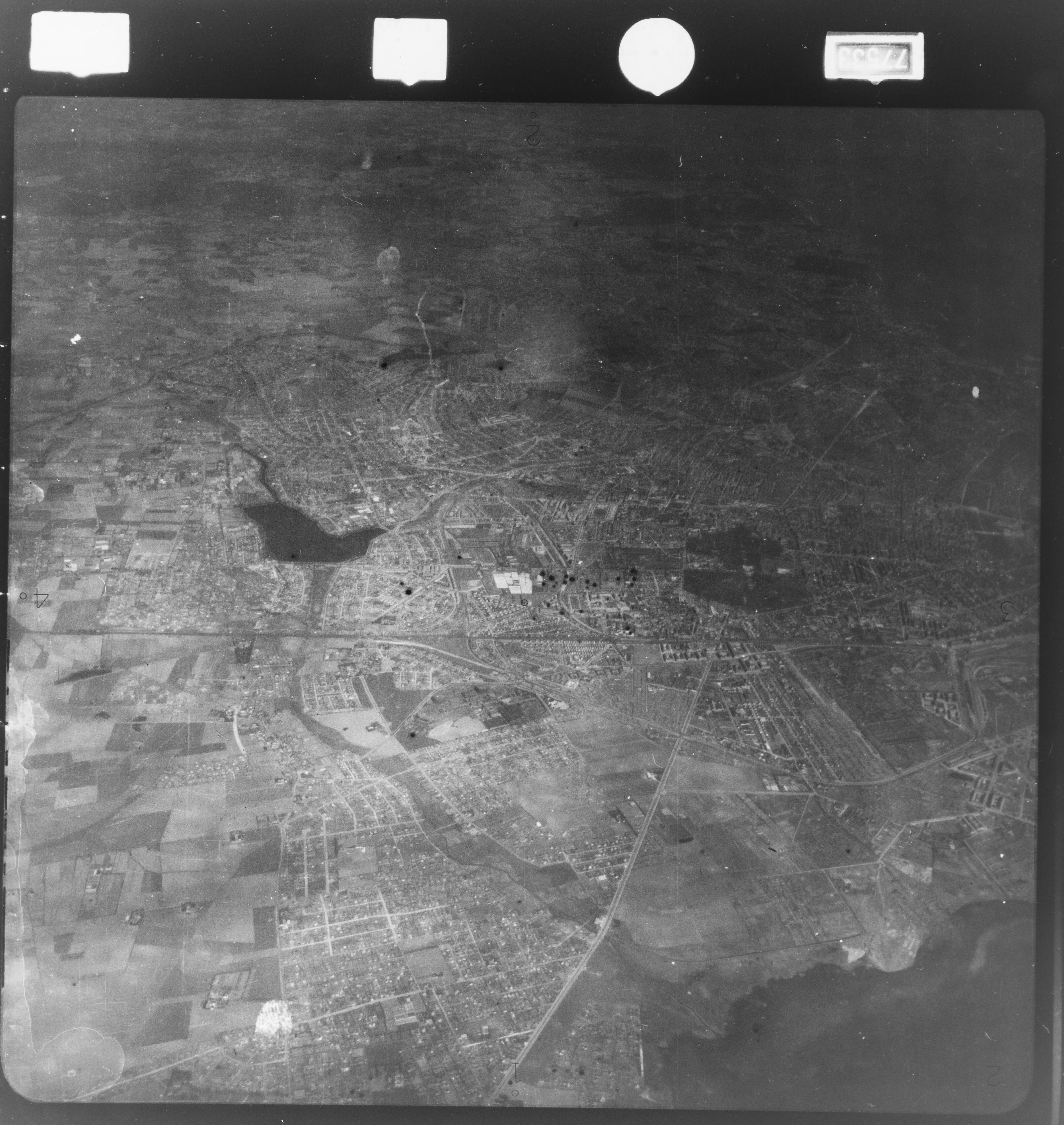 Skråfoto fra 1922-1939 taget 422 meter fra Ankermandsvej 20