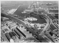 thumbnail: Skråfoto fra 1928-1950 taget 73 meter fra Hjørringgade 37, 14. th