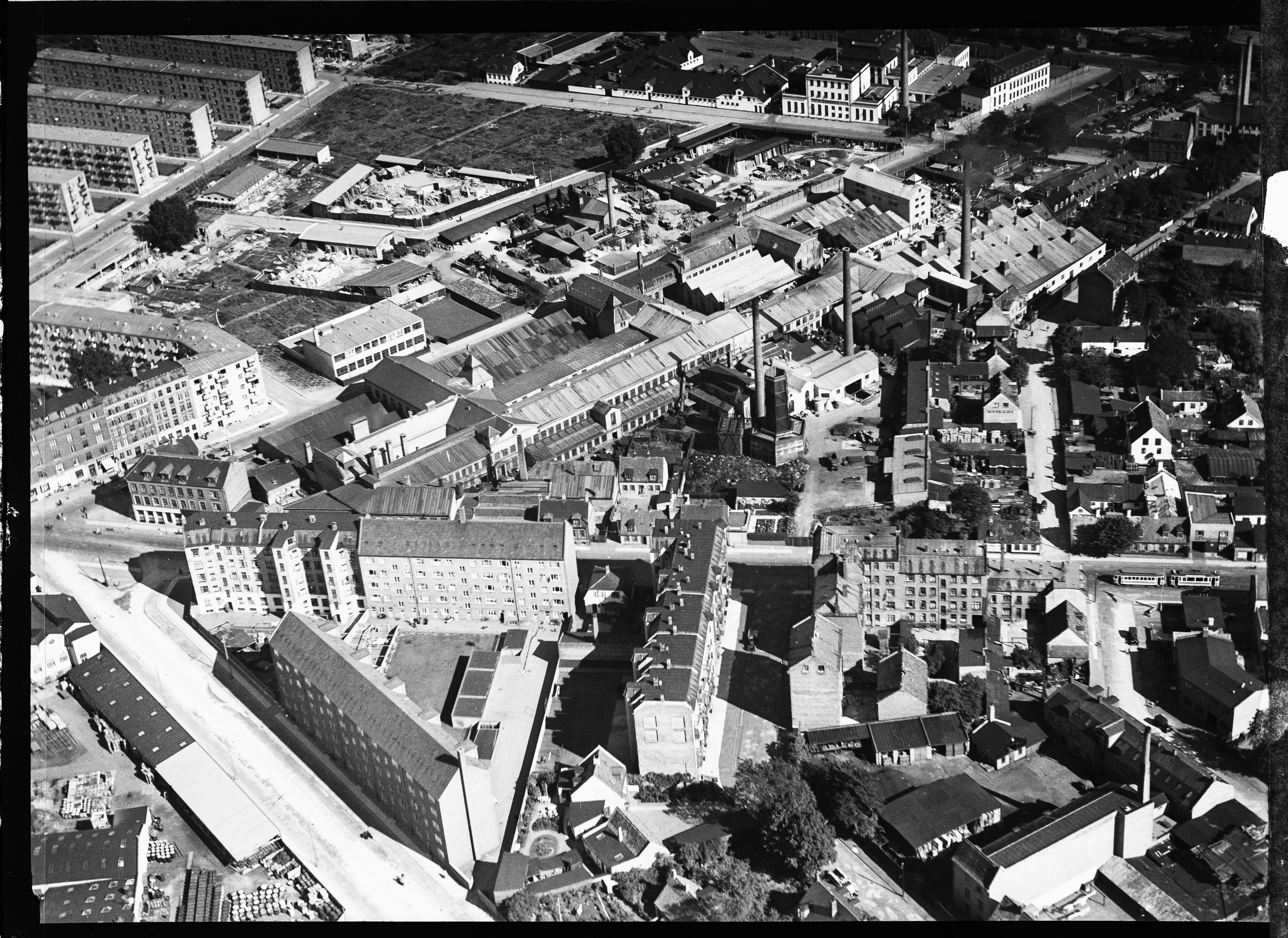 Skråfoto fra 1932-1950 taget 36 meter fra Brofogedvej 12A
