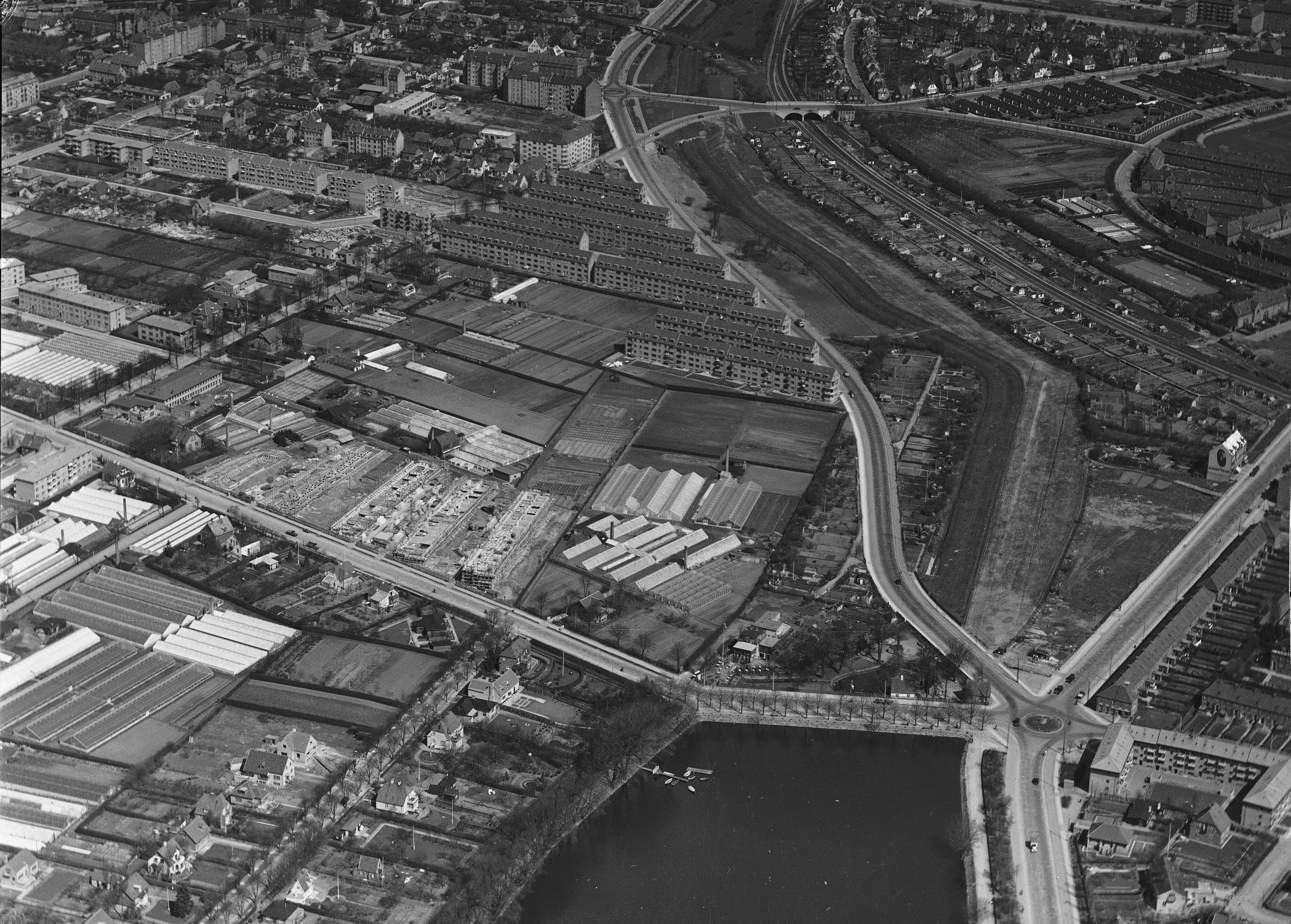 Skråfoto fra 1937 taget 108 meter fra Haven 9G