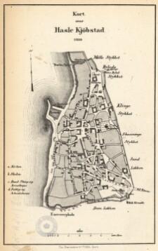 Kort Over Hasle Kjobstad 1858 Digital Collections