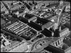 thumbnail: Skråfoto fra 1950-1980 taget 73 meter fra Æbeløgade 44, 4. 1