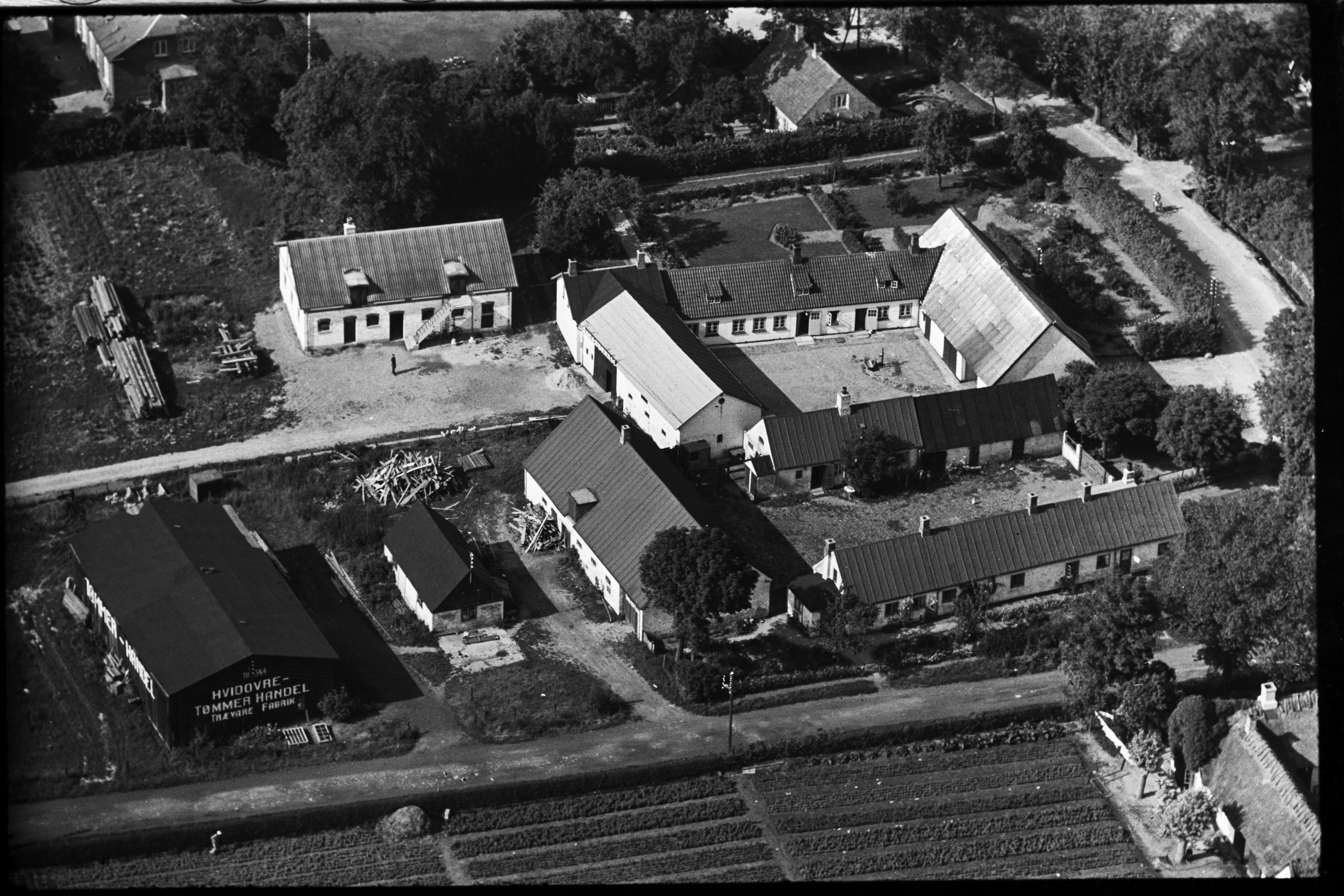 Skråfoto fra 1936-1938 taget 39 meter fra Baunebakkevej 41